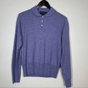 Brooks Brothers Purple Collared Sweater
